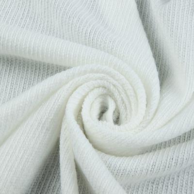 Вязанный трикотаж Ангора (белый) VT-594