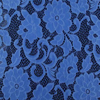 Гипюр голубой ( цветок) VT-637