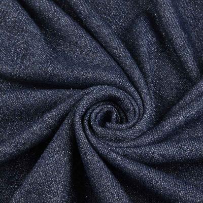 Трикотаж (петля) люрекс джинсовый VT-645
