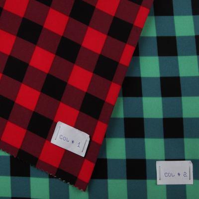 Костюмная(брючная) стрейчевая ткань Креп - костюмка принт XT-7447-D1