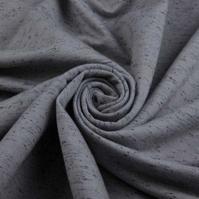 Трикотаж Двунитка принт (тёмно серый меланж) Х/Б (пенье) VT-706