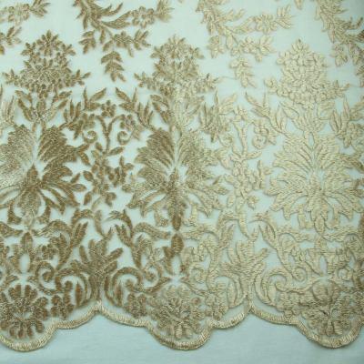 Сетка с вышивкой ( золотая) VT-723