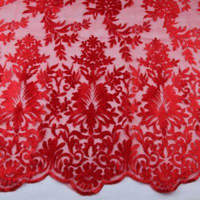 Сетка с вышивкой ( красная) VT-726