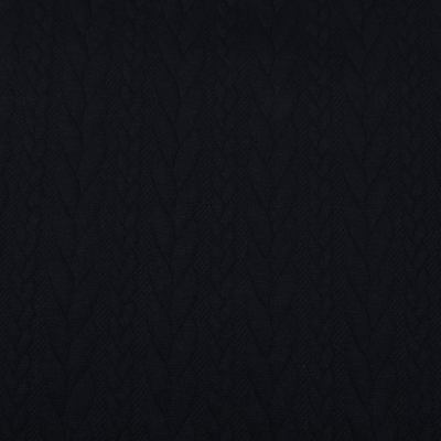 Трикотаж фактурный (косичка) VT-734 (чёрный)
