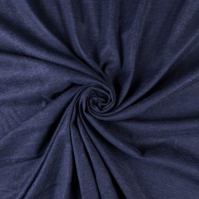 Лён стрейч (тёмно-синий) VT-830