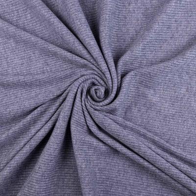 Трикотаж Рибана (серо-синяя) VT-852