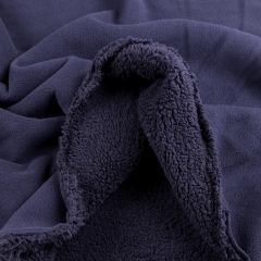 Флис на меху (плотный) темно-синий VT-861