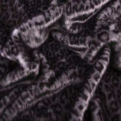 Мех средневорсовый принт (леопард серый) VT-886-С2