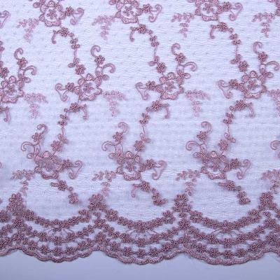Сетка с вышивкой (розовое капучино) VT-883