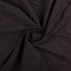 Коттон люрекс (Звездное небо, черный с отливом марсала) VT-954