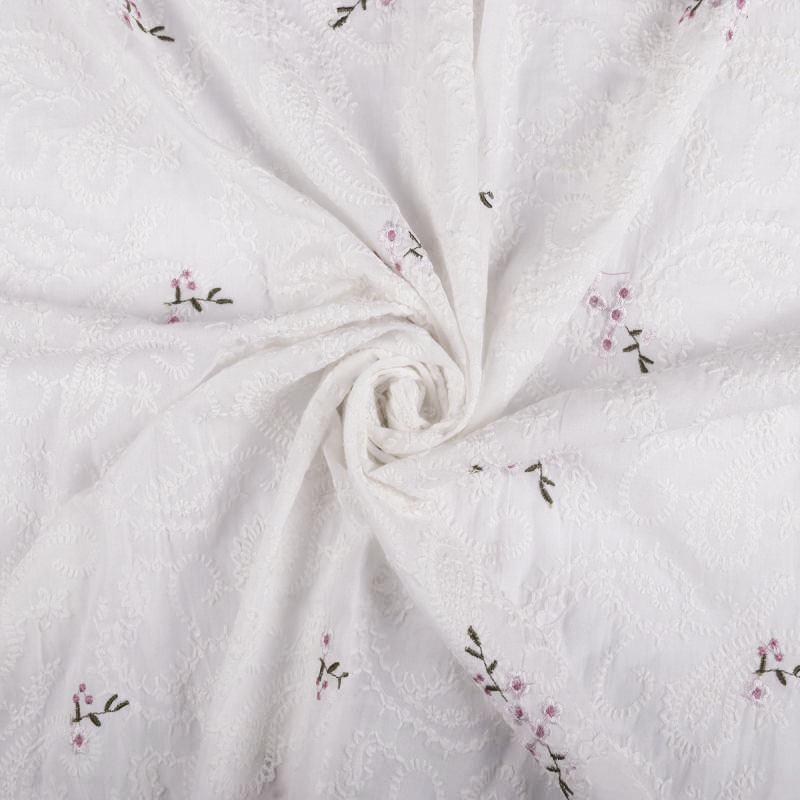 Батист вышивка (белоснежный) VT-958