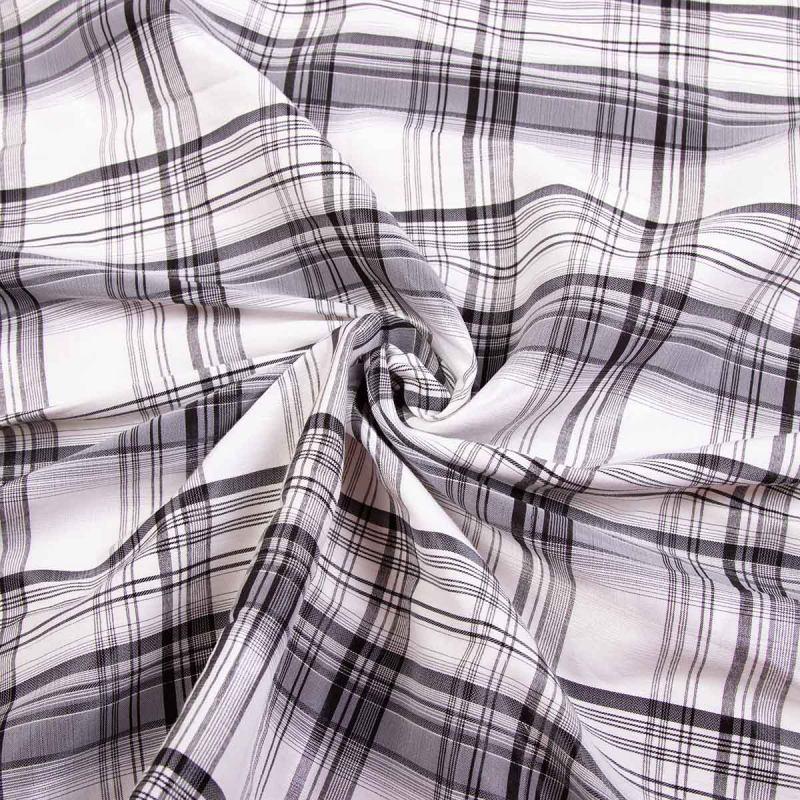 Рубашечная (сорочечная) ткань коттон (принт) MLN-0819-7