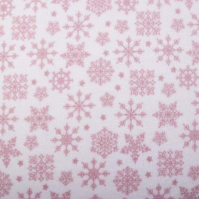 Флис POLAR (розовые снежинки) VT-1089