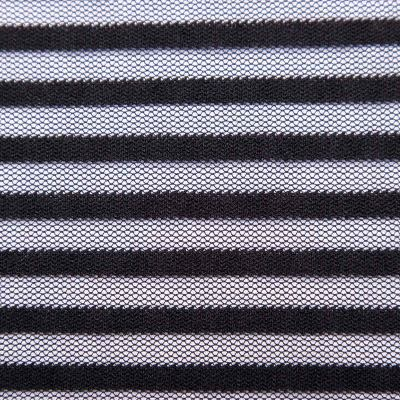 Сетка стрейч принт флок (полосы) VT-1093