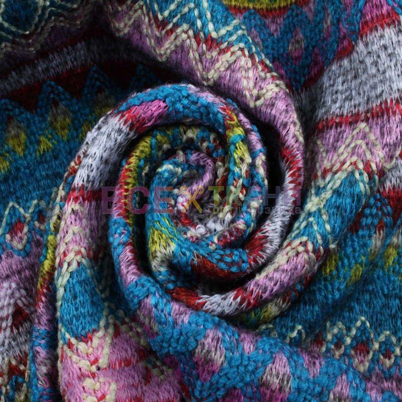 вязаное трикотажное полотно на флисе мексикано Zt 17084 C2