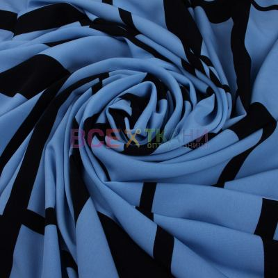 Розница Келли-креп (абстракция голубая)