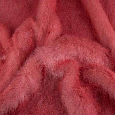 Мех длинноворсовый розовый VT-894