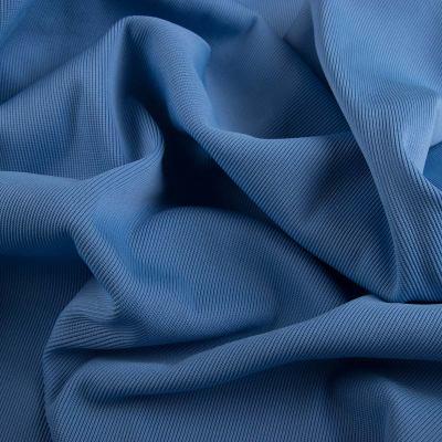 Рибана эластик (манжетная резинка) голубая VT-923