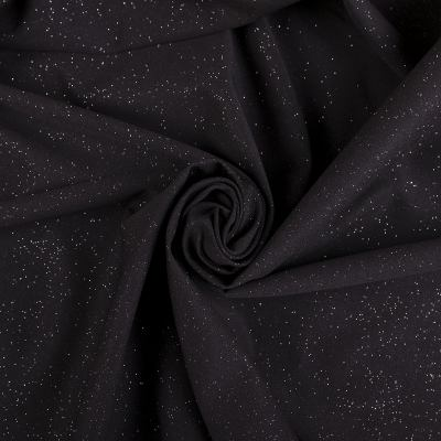 Трикотаж люрекс (Звездное небо, черный) VT-953