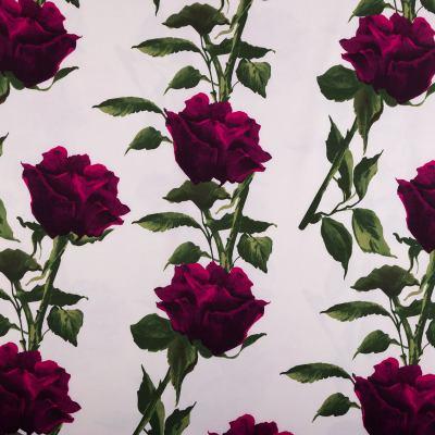 Барби-креп костюмка (розы на белом) VT-979