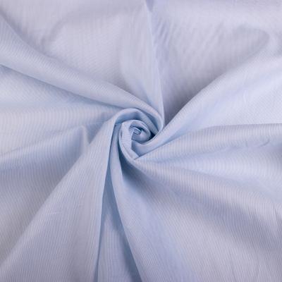 Рубашечная ткань коттон (полоска на голубом) VT-1003