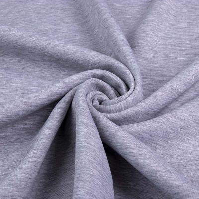 Двунитка на меху пенье (серый меланж с белым мехом) VT-1136-C3