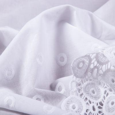 Батист вышивка перфорация купон (белый) VT-1167-C2