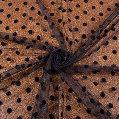 Сетка флок (чёрный горох на чёрном ≈ 10мм) VT-1180-С1