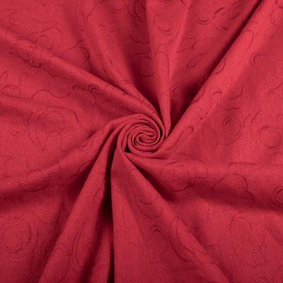 Лён вышивка (красный) VT-1198