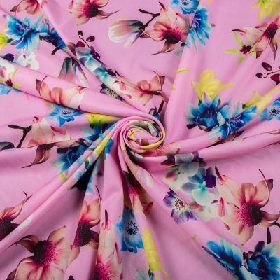 Супер софт принт (цветы на розовом) VT-1208