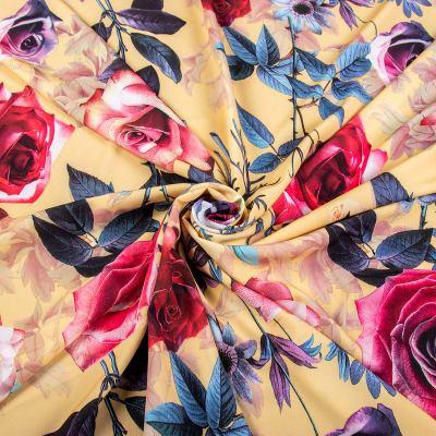 Супер софт принт (цветы на жёлтом) VT-1209