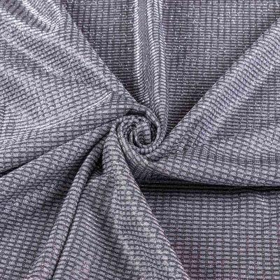 Трикотаж люрекс напыление (серебро квадратики) VT-1219
