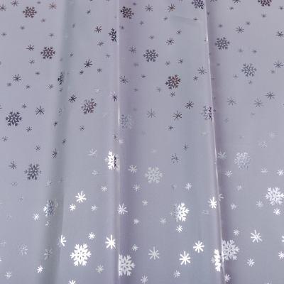 Плащевка рефлективная/светоотражающая (снежинки серебро) VT-1229-C2