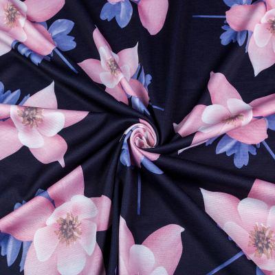 Французский трикотаж принт (цветы) VT-1278