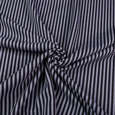 Французский трикотаж (чёрно-серая мелкая полоска) VT-1279-С2