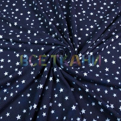 Ангора принт (звёздочки средние т.синие) VT-1307