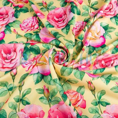 Барби-креп костюмка (розы на жёлтом) VT-866-C2