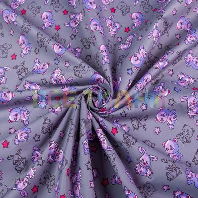 Плащёвая (курточная) ткань принт Аляска VT-1324-C1