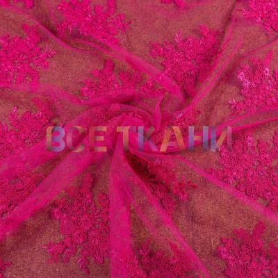 Сетка с вышивкой (малина) VT-882-С5