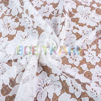 Сетка с вышивкой 2х купон (белый) VT-1360