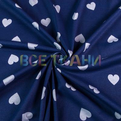 Кулир принт (белые сердечки на т.синем) VT-1371