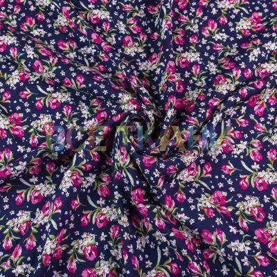 Штапель (цветы на т.синем) VT-1389