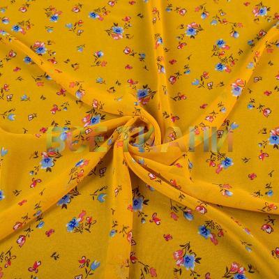 Шифон принт (цветы на жёлтом) VT-1396