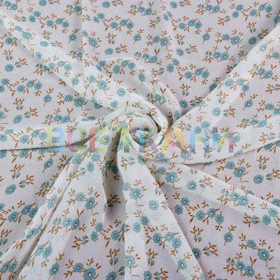 Шифон принт (цветы на белом) VT-1402