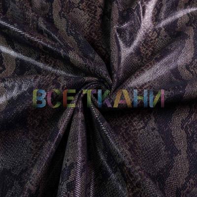 Искусственная кожа на трикотаже (чёрная) VT-1404-С1