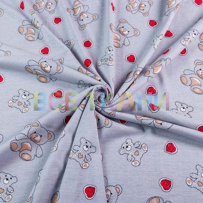Кулир принт (мишки на сером) VT-1419-С1