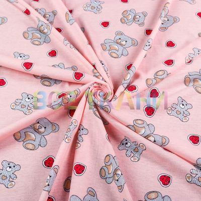 Кулир принт (мишки на розовом) VT-1419-С3