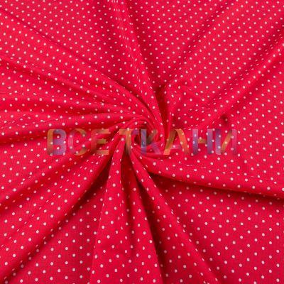 Двунитка принт (белый горох на красном) VT-1467-С1