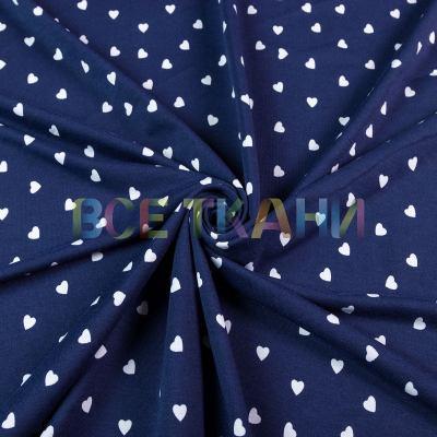 Двунитка принт (белые сердечки на т.синем) VT-1468-C1