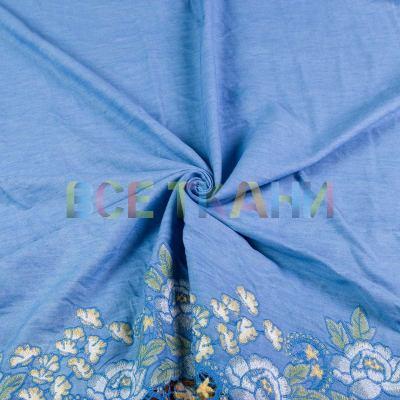 Джинс купон вышивка (светло голубой) VT-1549-С2